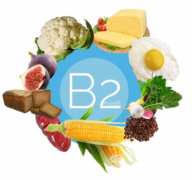 витамин B2 содержится в